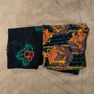 Pair of Christmas leggings! Both OS.